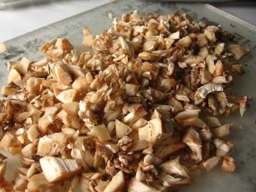You stuff mushrooms with, well, mushrooms.