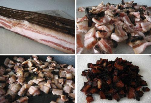 Makin' the bacon.