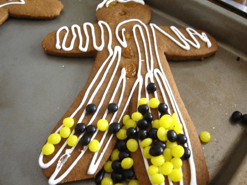 The GIngerbread man has come down with a horrible disease.