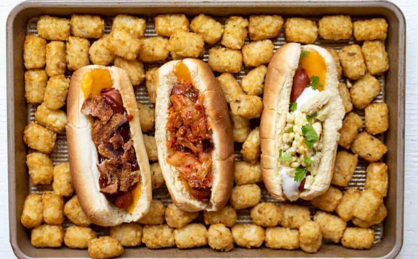 Baked Hot Dogs Three Ways