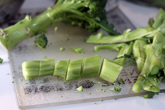 Choppin' BROCCOLI. Choppin' Broccoley. Choppin. Chop. Huh. - Broccoli Gratin