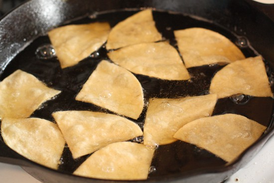 frying chips perfect nachos