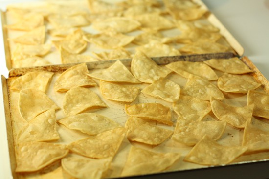 Topping perfect nachos