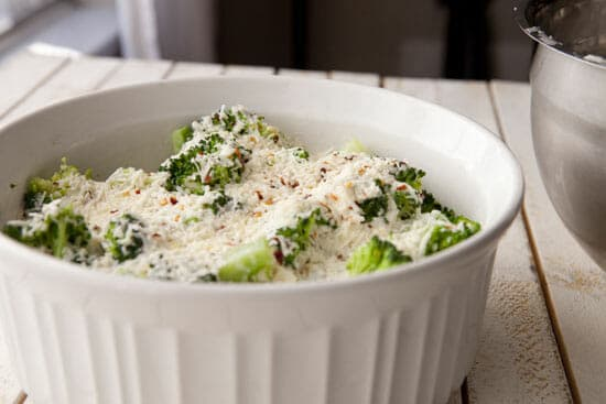 That's the Parm on top - Broccoli Gratin