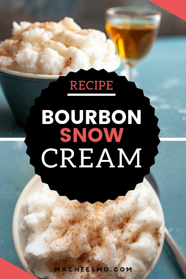 Snow Cream with Bourbon