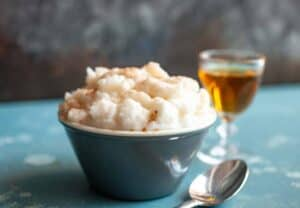Snow Cream with Bourbon