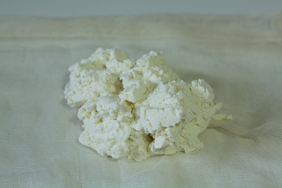 Fresh ricotta has much more moisture than one would think.