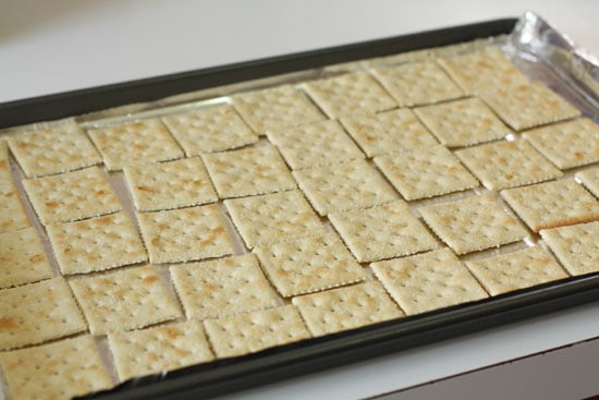 Brickle Crackers laid out.