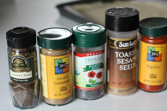 These are some of the spices I grabbed.