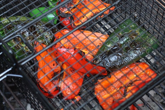 This is how you really roast peppers.
