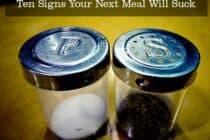 Salt and Pepper Sign