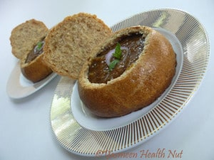 French Onion soup in Bread Bowl - Health Nut