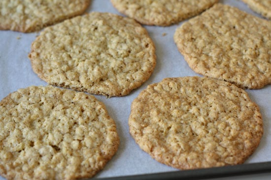 Oatmeal cookies after baking