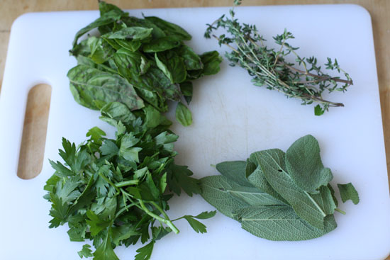 Parsley, sage, rosemary and thyme! And by rosemary, I mean basil.