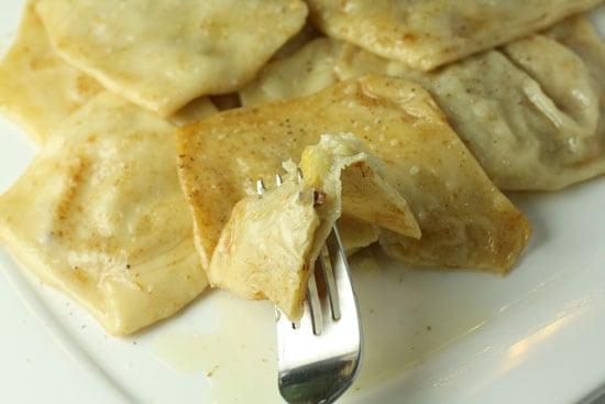 Bite of ravioli