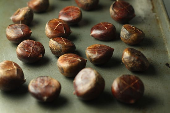 Chestnuts ready to roast