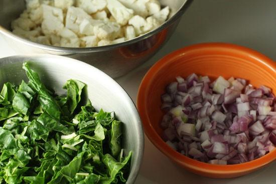 Veggies prepped.