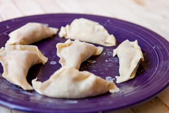 formed dumplings - Homemade Potstickers