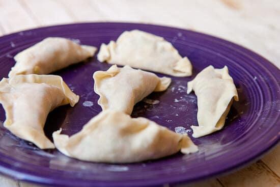 formed dumplings - Homemade Potstickers