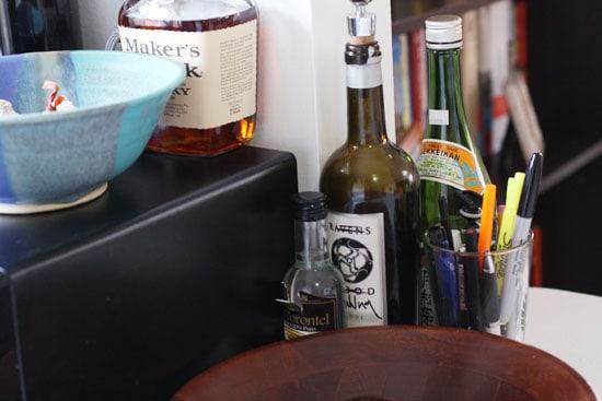 My corner of random booze.