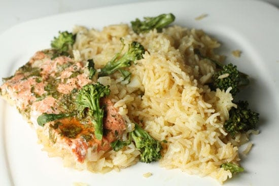 Salmon And Rice Dinner
