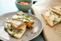 Spicy Shrimp Quesadillas: These simple quesadillas are packed with spice and flavor and prove the exception to the seafood/cheese rule. It can work and it's very delicious Tex-Mex. | macheesmo.com