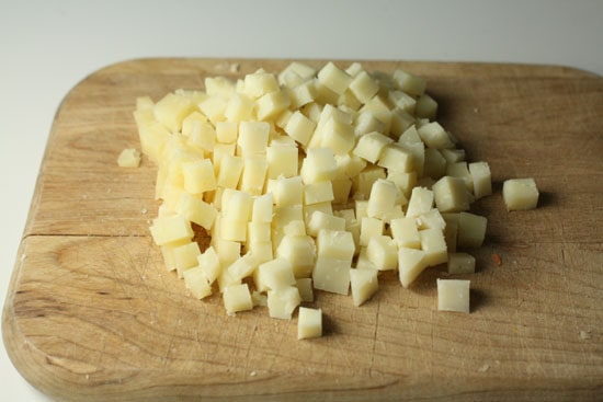 cheese cubed
