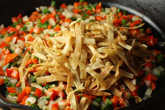 strips and veggies