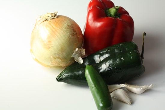 Veggies for migas