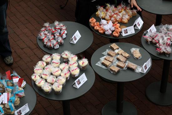bake sale tables