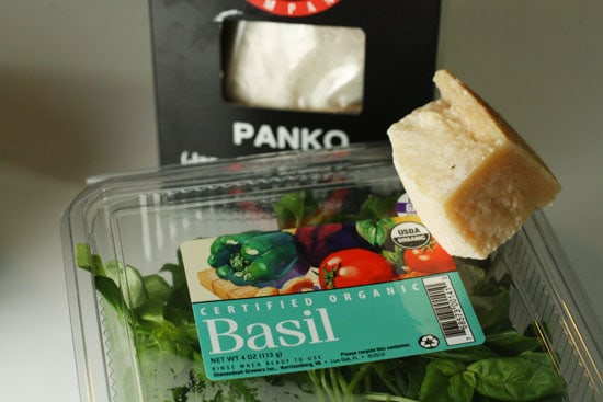 basil and cheese