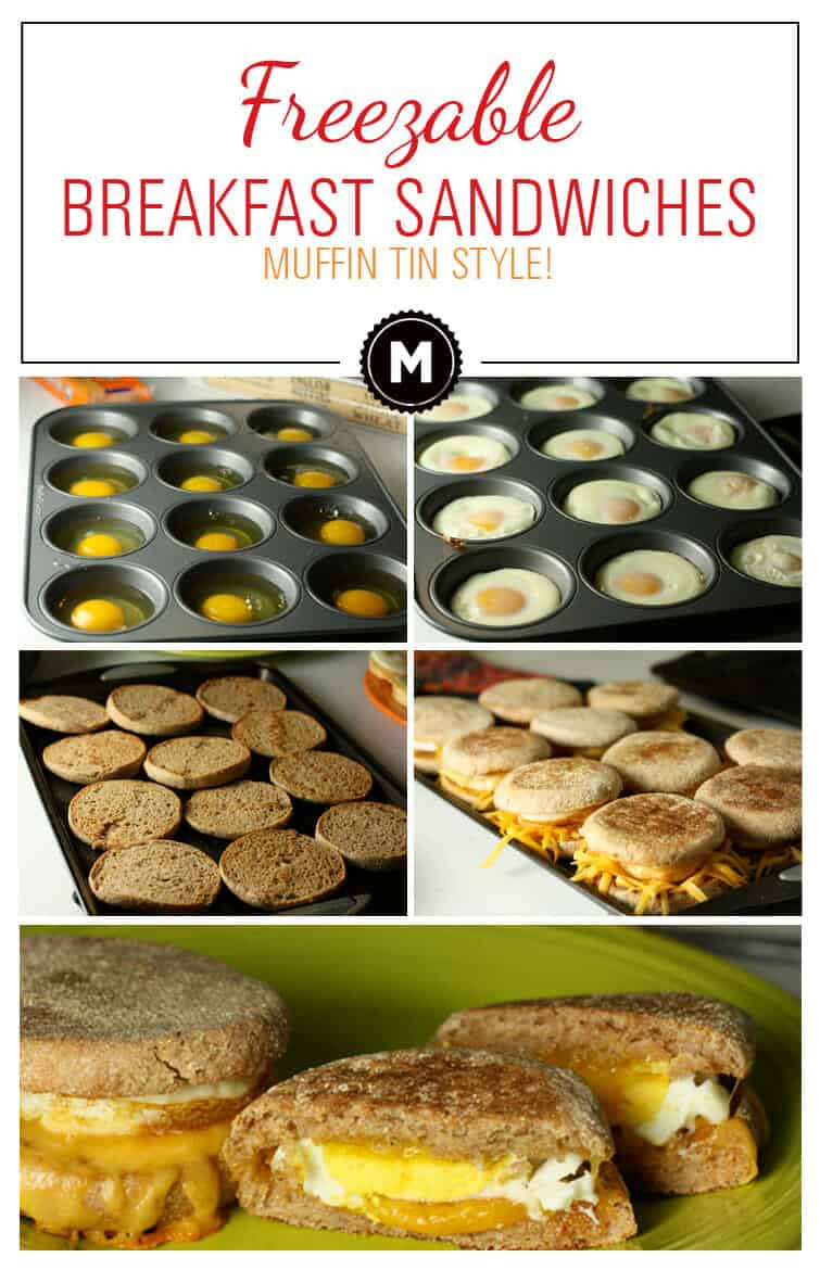 Who doesn't love a great egg and cheese breakfast sandwich? Here's how you can make a dozen at a time, freeze them for later, and reheat them on a busy weekday! Great way to skip the fast food drive through lanes!