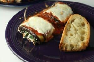Eggplant Parmesan Roll