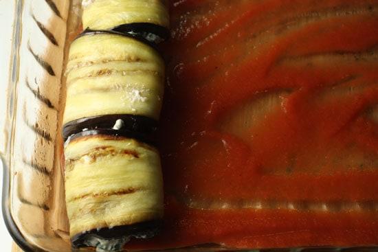 eggplants in dish