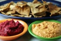 Beet and red pepper hummus