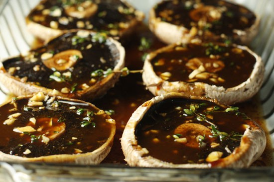 marinated portobellos
