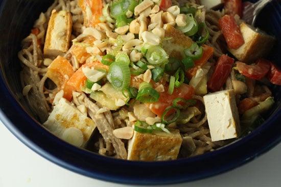 finished soba noodle dish