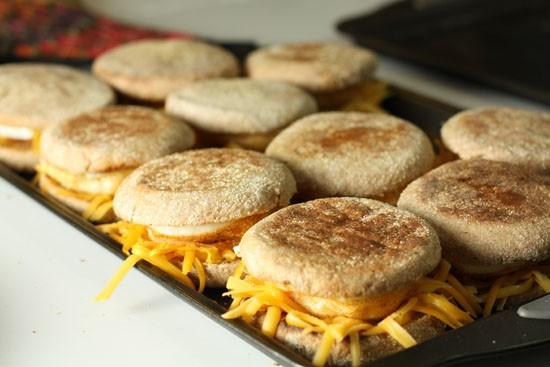 Breakfast Sandwiches made