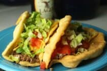 Homemade chalupa shells are so much better than Taco Bell! These can be filled pretty much any Tex-Mex filling!