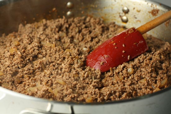 Seasoned ground beef for homemade chalupas