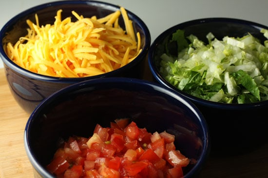 Chalupas toppings.