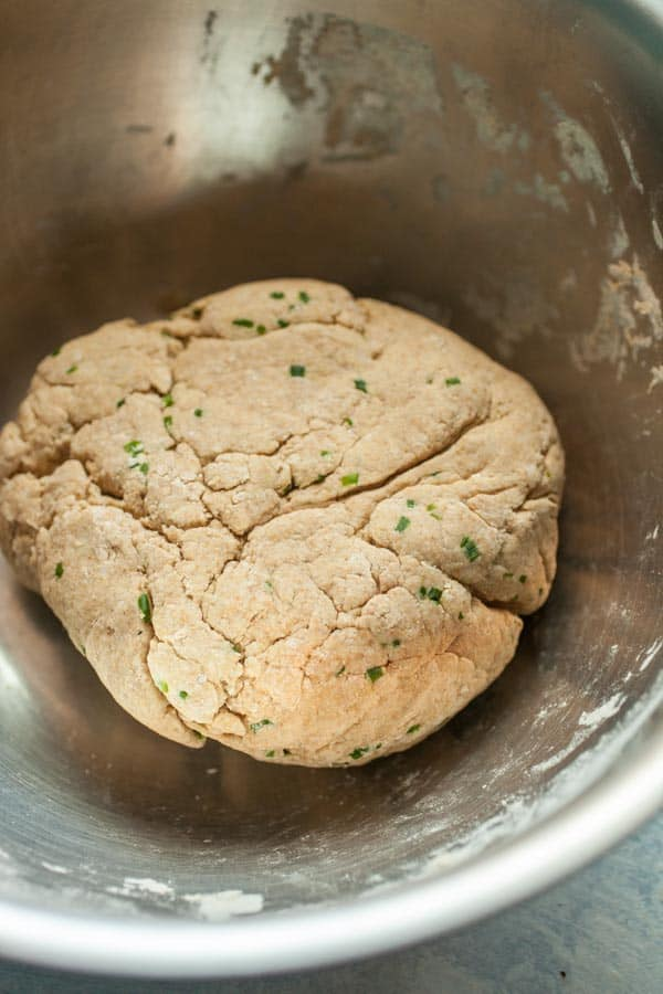 Dough for chickpea stir fry