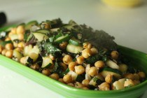 kale and chickpea