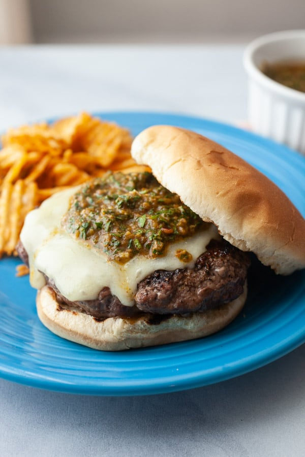 Argentine Burger with Chimichurri Sauce