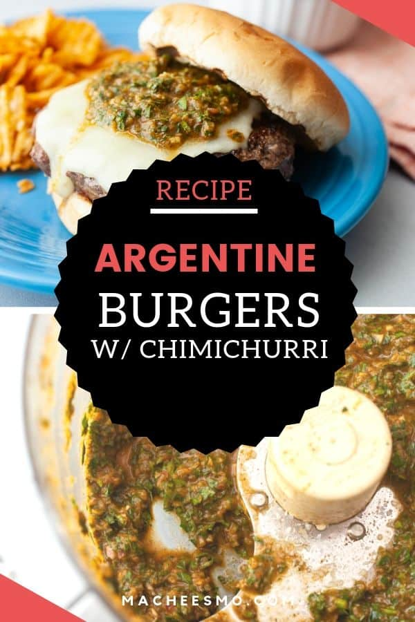 Argentine Burger with Chimichurri