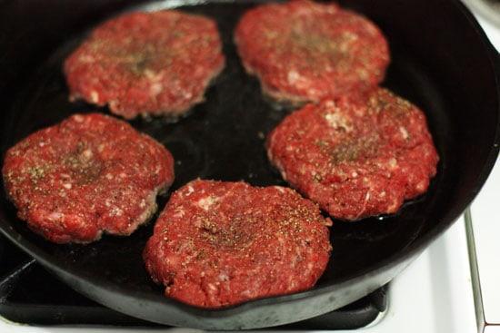 Cast Iron Option - Chimichurri Burgers