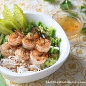 The Food Addicts: Grilled Lemongrass Shrimp Vermicelli