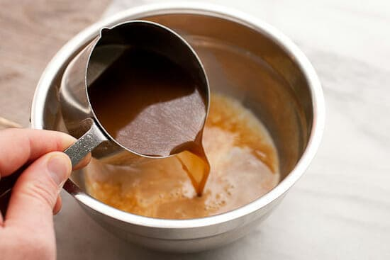 Coffee coffee cake liquid.