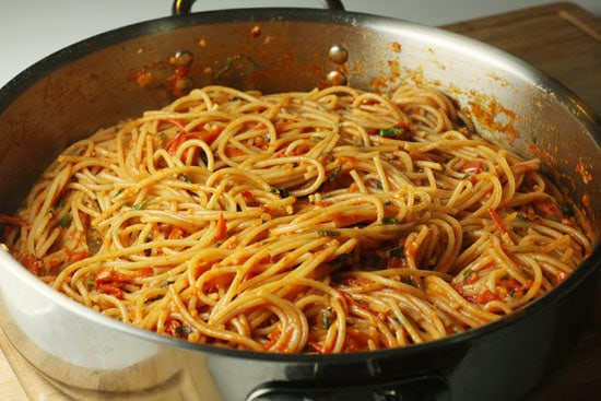 pasta added