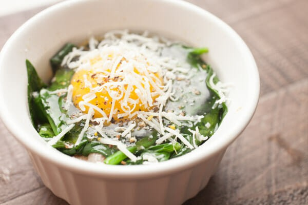 Bacon Spinach Baked Eggs